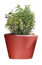Vaso Cachepô Plantas Textura Anti UV Elegance 30 cm Cassis Verdy Vasos -
