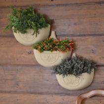 Vaso de parede Auto Irrigável 5 L - Cor Areia - Verde Vida