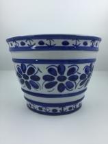 Vaso do tipo Cachepot  feito e pintado a mão - Porcelana Monte Sião