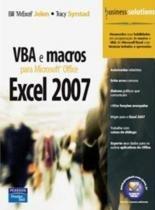 Vba e macros para microsoft office excel 2007 - Pearson/nacional