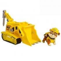 Veículo com Figura Patrulha Canina - Sunny - Spin Master Rubbles Diggin Bulldozer -