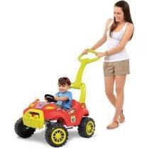 Veiculo Para Bebe Smart Passeio E Pedal Vermelho Brinq. Bandeirante -