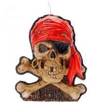 Vela Caveira Pirata Halloween - Festabox