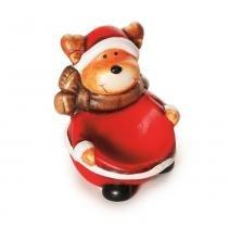 Vela Urso Decoração Natal 8cm Vermelho - Cromus