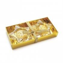 Velas em KITs Estrela e Floco Ouro - 2 Unidades - Cromus