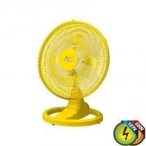 Ventilador De Mesa 50cm Amarelo Bivolt Ventidelta -