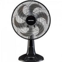 Ventilador de mesa oscilante 30cm com 6 pas 220v turbo preto/cinza ventisol - Ventisol