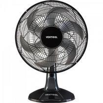 Ventilador de mesa oscilante 40cm com 6 pas 127v turbo preto/cinza ventisol - Ventisol