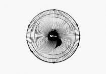 Ventilador de parede 60cm 200w cor preto grade 120 fios vitalex - 110v - Vitalex