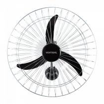 Ventilador de Parede 60cm New Grade Cromada Premium Ventisol 127V Preto -