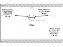 Ventilador de Teto Spirit 202 2 Pás  - 3 Velocidades Cristal