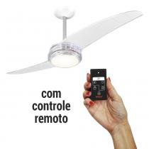 Ventilador de Teto Spirit 203 Cristal Lustre Flat Controle Remoto -