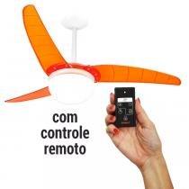 Ventilador de Teto Spirit 302 Tangerina Lustre Globo com Controle Remoto -
