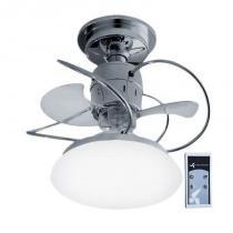 Ventilador de Teto Treviso Atenas Cromado C/ Controle Remoto e LED 18W -