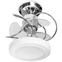 Ventilador de Teto Treviso Bali 3 Pás - 3 Velocidades Cromado para 2 Lâmpadas
