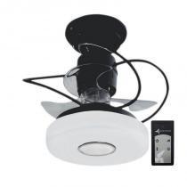 Ventilador de Teto Treviso Monaco Preto C/ Controle Remoto e LED 18W -