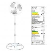 Ventilador oscilante de coluna grade plastica 40cm branco 127v - ventidelta. - Venti-delta