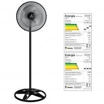 Ventilador oscilante de coluna grade plastica 40cm preto 127v - ventidelta. - Venti-delta