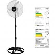 Ventilador oscilante de coluna light grade aco 50cm preto/cromo 127v - ventidelta. - Venti-delta