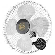 Ventilador oscilante de parede 50 cm preto e cromado - GOLD (110V/220V) - Venti delta