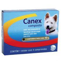 Vermifugo Ceva Canex Composto para Cães - 4 Comprimidos -