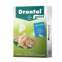 Vermifugo drontal gatos (4 comprimidos) - bayer -