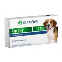 Vermifugo Ouro Fino Top Dog para Cães de até 10 Kg - 4 Comprimidos - Ouro fino pet