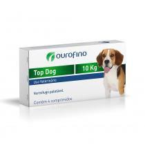 Vermifugo Ouro Fino Top Dog para Cães de até 10 Kg - 4 Comprimidos - Ourofino