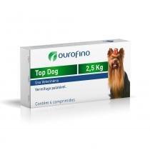 Vermifugo Ouro Fino Top Dog para Cães de até 2.5 Kg - 4 Comprimidos - Ourofino