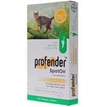 Vermifugo profender para gatos de 0,5kg a 2,5kg - bayer -