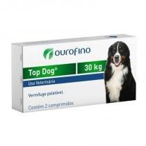 Vermifugo top dog cães 30kg (2 comprimidos) - ourofino -