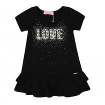 Vestido Infantil Matelasse Babados Love Bordado - Pituchinhus 4cd417eee1b