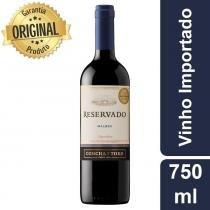 Vinho Argetino Tinto Reservado Malbec Garrafa 750ml - Concha Y Toro -
