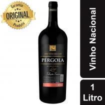Vinho Nacional Tinto Suave Garrafa 1 Litro - Pérgola -