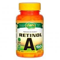 Vitamina A Retinol (500mg) 60 Cápsulas Vegetarianas - Unilife -