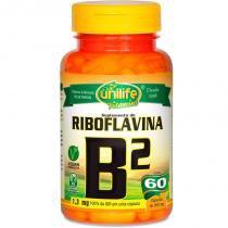Vitamina B2 Riboflavina 60 cápsulas Unilife - Unilife