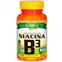 Vitamina B3 Niacina 60 cápsulas Unilife - Unilife