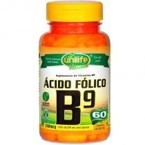Vitamina B9 Ácido Fólico 60 cápsulas Unilife - Unilife