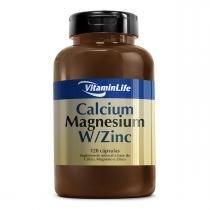Vitaminas Minerais CALCIUM MAGNESIUM W/ZINCO - VitaminLife - 120 Caps -