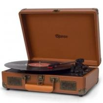 Vitrola com 3 Rotações do Tipo Briefcase (Maleta) com USB (Reproduz e Grava) e Bluetooth - Raveo