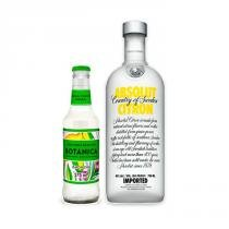 Vodka Absolut Citron 1l + Água Tônica Bôtanica Lemon Dry 275ml -