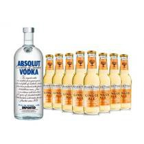Vodka Absolut Original 1l e 8x Fever-Tree Premium Ginger Ale 200ml -