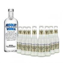 Vodka Absolut Original 1l e 8x Fever Tree Premium Ginger Beer 200ml -