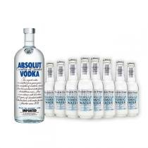 Vodka Absolut Original 1l e 8x Fever-Tree Premium Naturally Light Tonic Water 200ml -