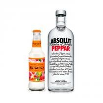 Vodka Absolut Peppar 1l + Água Tônica Botânica Spicy 275ml -