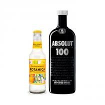 Vodka Premium Absolut 100 1l + Água Tônica Botânica Classic Indian 275ml -