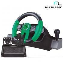Volante Racer Para Xbox One, PC Com Marcha Acoplada JS077 - Multilaser - Multilaser