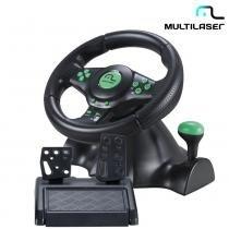 Volante Xbox360, PS3, PS2, PC Marcha Acoplada JS075 - Multilaser -