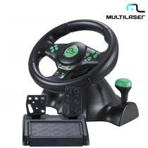 Volante Xbox360, PS3, PS2, PC Marcha Acoplada JS075 - Multilaser - Multilaser