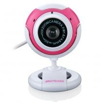 Webcam 16MP USB PlugPlay Rosa/Branca WC042 - Multilaser - Multilaser